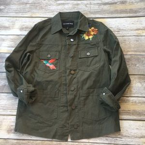 Who What Wear Embroidered Utility Coat